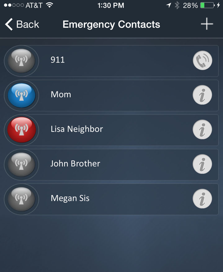 Emergency Safety Alert Contacts