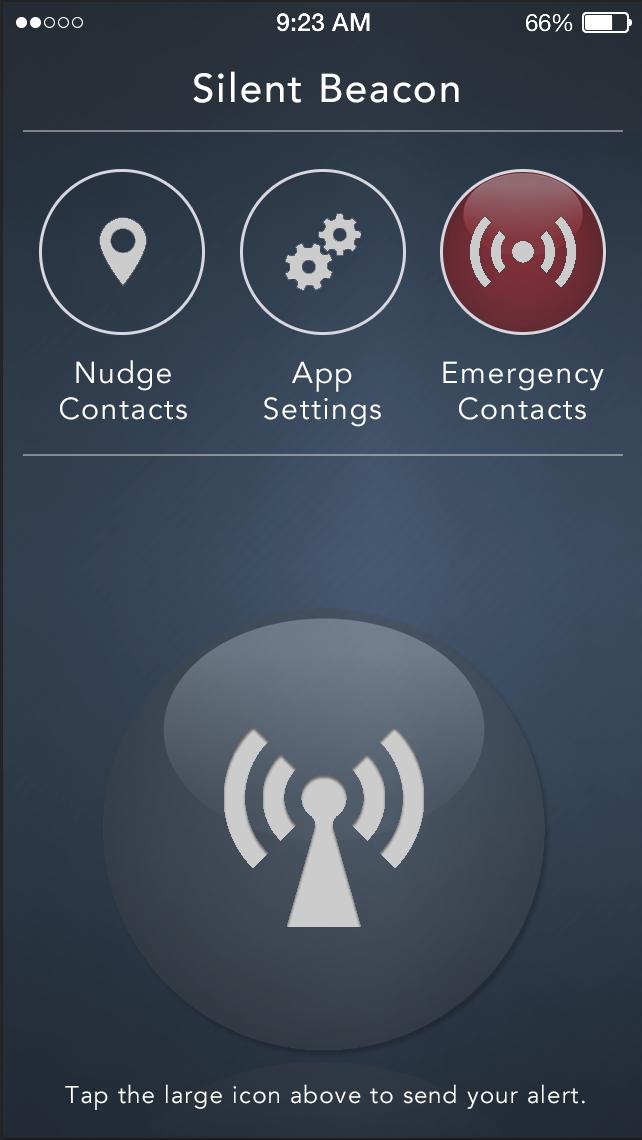 Personal Safety App Menu